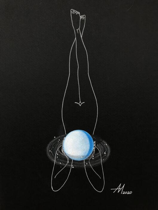 Mila Akopova Planets 17.5x11.5 in