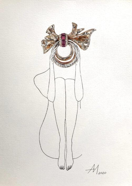 Mila Akopova Many thoughts, one head series jewelers