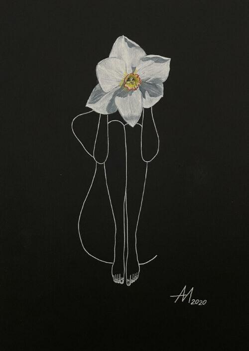 Mila Akopova Narcissus 11.5x17.5 in